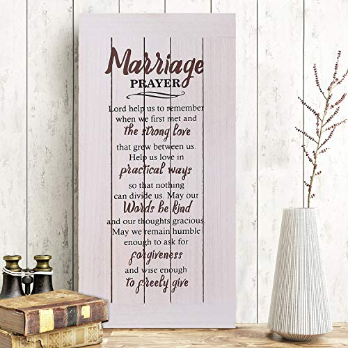 Amugo Marriage Plaque - Rustic Wood Sign, Unique Wedding Gifts, Bridal Shower Gifts and Engagement Gifts for Couple, Bride, Husband and Wife - Newlywed Gift - Upgraded New Plaque