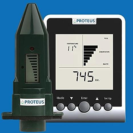 Indicador de nivel para aljibe, cisterna, depósito de agua de lluvia etc. -EcoMeter S Plus- la variante especial para tanques subterráneos y zonas ...