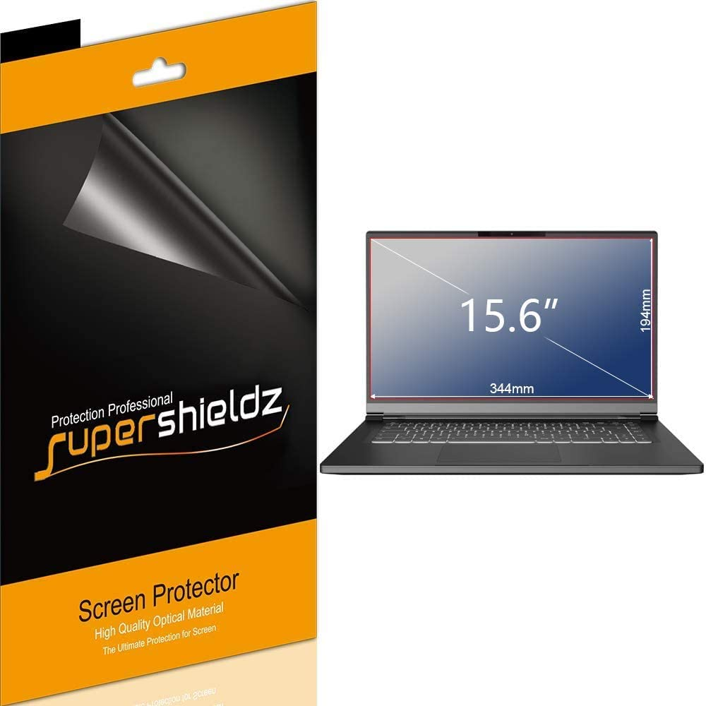 (3 Pack) Supershieldz for Universal 15.6 inch with 16:9 Aspect Ratio Laptop Screen Protector, (344mm x 194mm) High Definition Clear Shield (PET)