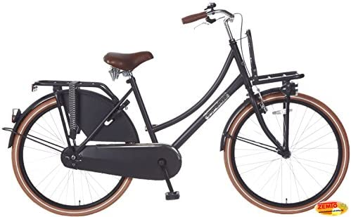Bicicleta holandesa para mujer 26 pulgadas Plezier DDB Negro Mate ...