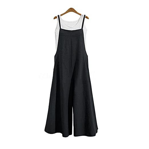 Amazoncom Wide Leg Jumpsuits For Women Overalls Plus Size Halter