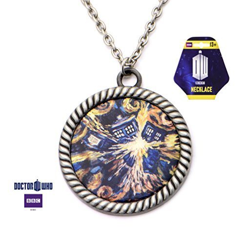 [Doctor Who Van Gogh Tardis Large Size Pendant Necklace Costume Accessory] (Van Gogh Costume Kids)