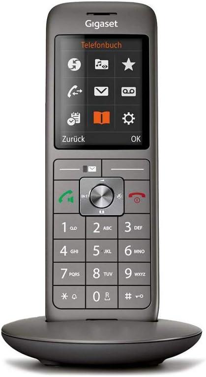 Gigaset CL 660 - Teléfono (Teléfono DECT, Terminal inalámbrico, Altavoz, 400 entradas, Antracita, Negro): Amazon.es: Electrónica