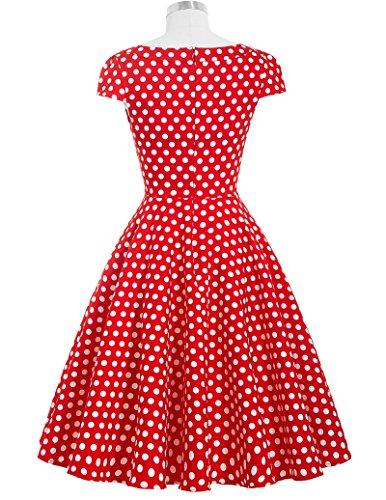 Red Polka Dot Vintage Retro Short Prom Dresses Size XL BP08-7