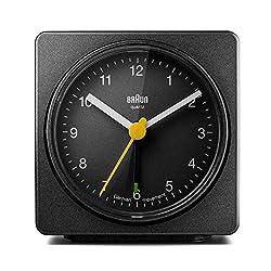 Braun BNC011BKBK Classic Alarm Quartz Alarm Clock