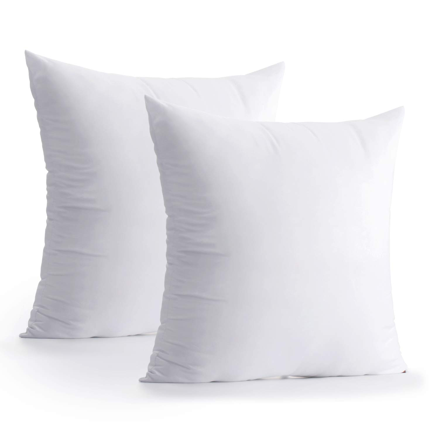 2 Packs Hypoallergenic Square Form Sham Decorative Cotton Pillows Cushion Stuffer 12 x 20 inches Calibrate Timing Throw Pillow Inserts