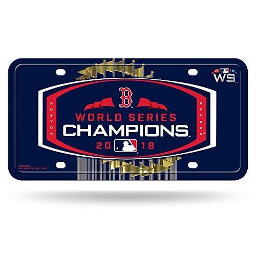 (Boston Red Sox 2018 World Series Champions Metal License Tag Plate - Sign MLB)
