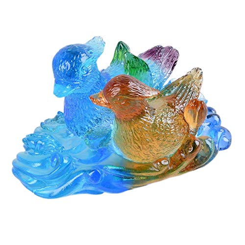 Haipyy Glass Jewelry Mandarin Duck Wedding Decoration Gifts Home Decoration Creative Birthday Yearbook Craft Gift Crafts (Color : -, Size : -) (Software Yearbook)
