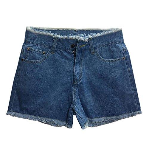 Denim Short Bleu Pantalons en Taille OverDose Petite Dlavage moyen Brut Haute t Sexy Femme Jean Fonc Slim Skinny Ourlet g1Zqx1w