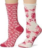 Search : Betsey Johnson Women's 2-Pack Punk Rock Love Crew Gift Box Socks