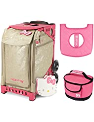 Zuca Sport Bag - Hello Kitty Good As Gold with Gift Lunchbox and Seat Cover (Pink Frame )