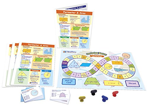 NewPath Learning Perimeter and Area Learning Center Game, Gr. 6 to 9