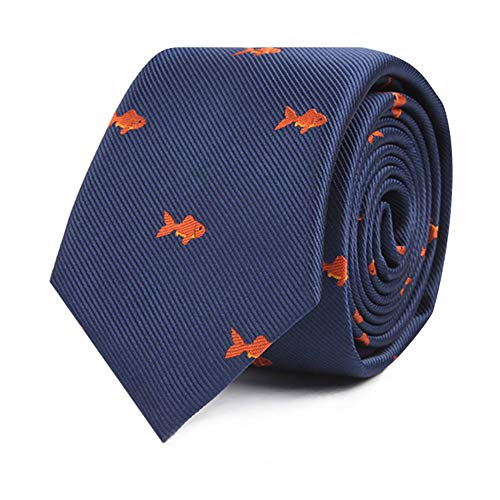 Goldfish Tie for Him | Gold Fish Gift for Him | Fish Lover Neckties for Men | Fishing | Birthday Gift for Guys (Goldfish) ()