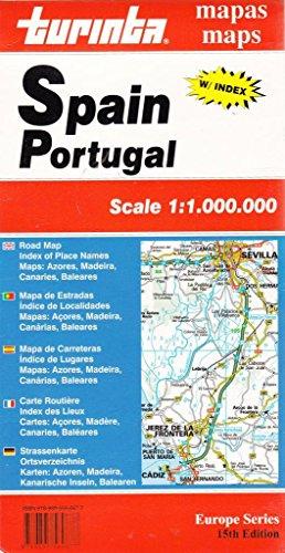 Turinta Espanha, Portugal: Mapa de estradas, índice de localidades, mapas Açores, Madeira, Canárias, Baleares = Turinta Spain, Portugal : road map, ... Baleares (Série Europa) (Portuguese Edition)