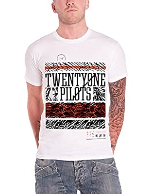 21 Twenty One Pilots T Shirt Athletic Stack Band Logo Official Mens White