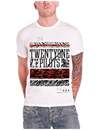 21 Twenty One Pilots T Shirt Athletic Stack Band Logo Official Mens New White