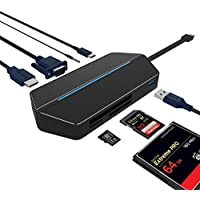 USB C Adapter, PK-STAR Premium USB C Hub 8-in-1 HDMI 4K+ USB 3.0 + USB Type C 3.0 High-Speed Data Syncing and Charging Multiports for MacBook Pro , Google Chromebook and More Type C Devices