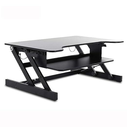 HURRUI- Mesa de pie Sit, Mesa Ajustable en Altura for PC ...