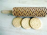 PENGUINS pattern Embossing Rolling Pin. Engraved rolling pin with PENGUINS for embossed cookies