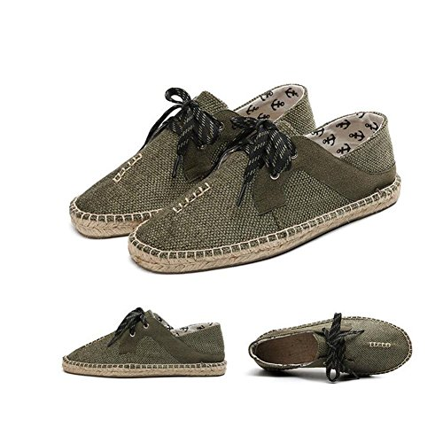 Lace Casual Mens B Canvas Loafers Flat Shoes Simple Flax 2018 up New Fashion Shoes HUAN Breathable Shoes xPqUgwYg