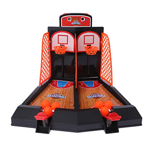 mgjyjy Best Toy Games Entertainment Series, 2019 New Mini Desktop Basketball Shooting Game Toys Indoor Table Finger Ejection Basketball Court Shooting Sport Stress Reliever Kids Adult Gift