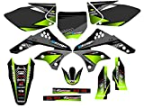 Senge Graphics 2006-2008 Kawasaki KX 450F, Surge Black Graphics Kit