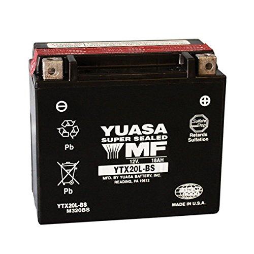 Batterie YUASA YTX20L-BS fü r Triumph Rocket 3 2300 2005 –  2013 12 V 18 Ah Versiegelte mit Sä ure