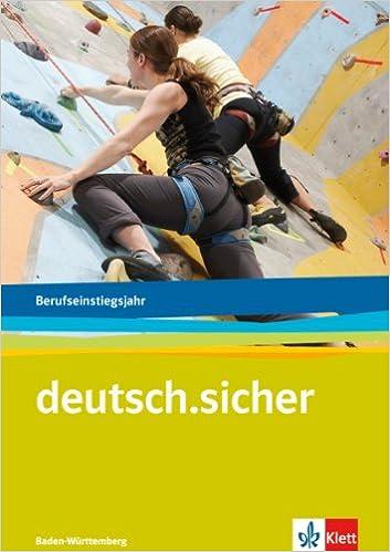 Deutschsicher Für Das Berufseinstiegsjahrarbeitsheftausgabe Für