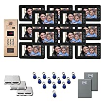 Multitenant Video Intercom 13 seven inch color monitor door entry kit