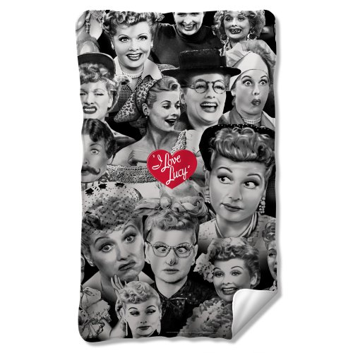I Love Lucy - Faces Fleece Blanket 35 x 57in