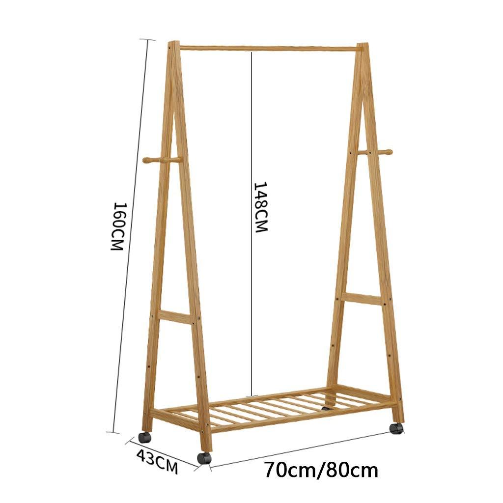 Amazon.com: Perchero de pie de madera de bambú con ganchos ...