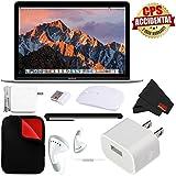 Apple 12 MacBook (Mid 2017 Silver) 256GB SSD (#MNYH2LL/A) + 2.4 GHz Slim Optical Wireless Bluetooth + Padded Case MacBook Bundle