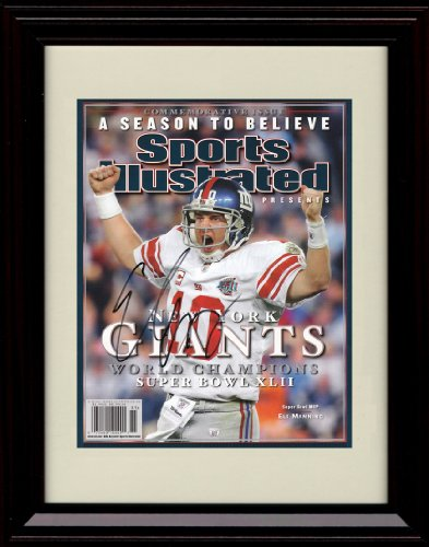 Framed Eli Manning Sports Illustrated Championship Commemorative Print - 2008