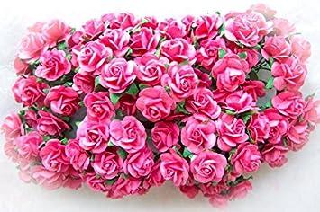 Amazon Com 144 Pcs Artificial Paper Rose Flower Buds Mini Bouquet