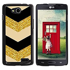 Paccase / SLIM PC / Aliminium Casa Carcasa Funda Case Cover - Fabric Gold Pattern Sparkling Glitter - LG OPTIMUS L90 / D415