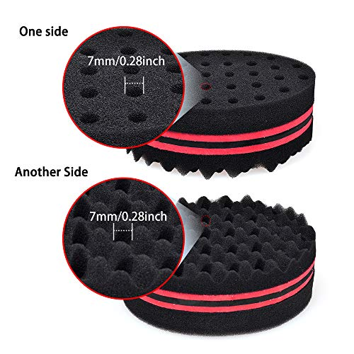 New Oval Double Side Two in One Magic Twist Hair Sponge Afro Braid Style Dreadlock Coils Wave Hair Curl Sponge Brush (1 PACK)