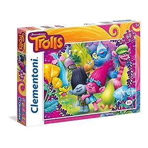 Clementoni Trolls Supercolor Puzzle 60 Pezzi 26958