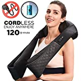 LiBa Cordless Shiatsu Neck Shoulder Back Massager with Heat - Rechargeable Use Unplugged, Portable Full Body Massage Relieving Pain Sore Muscles (Belt)