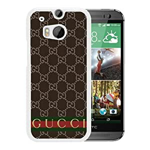 Beautiful And Unique Designed Case For HTC ONE M8 With Gucci 35 White Phone Case