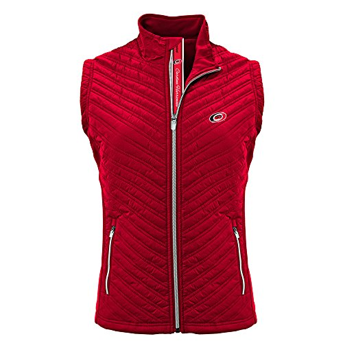 (Levelwear NHL Women's Transition Carolina Hurricanes Hockey Team Script Vest, Flame Red - X-Large )