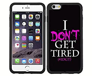 "Pink and Black ""I Don't Get Tired"" Rubber Snap on Phone Case 5C"
