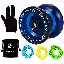 MAGICYOYO Responsive Yoyo K1-Plus Blue Spin Yoyo +3 Strings+Yoyo Sack+Yoyo Glove Gift