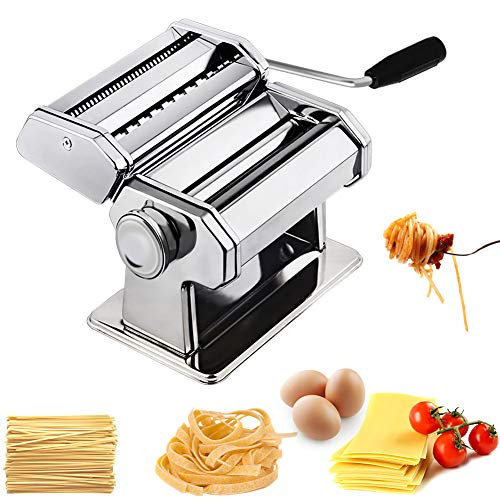 CHEFLY Sturdy Homemade Pasta Maker All in one 9 Thickness Settings for Fresh...