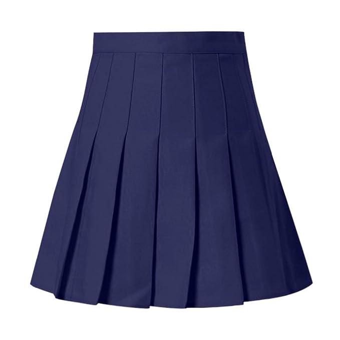 d2ea4f5cd VECDY Faldas Mujer, 2019 Moda De Mujer Cintura Alta Falda Plisada ...