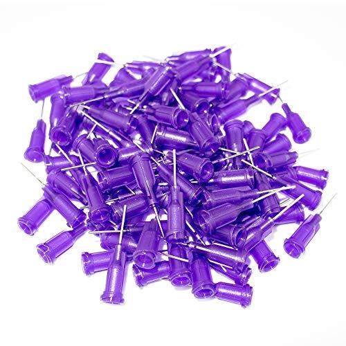 50 pcs 1/2 inch Dispensing Needles 21 Gauge Blunt Tip Dispensing Fill Needles with Luer Lock 0.5