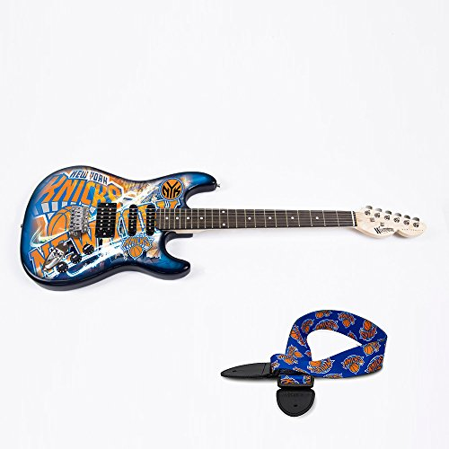 New York Knicks NBA ''Northender'' Electric Guitar with Strap by Woodrow