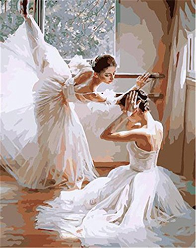 CaptainCrafts New Paint by Number Kits - Ballet Dancer 16x20 inch Frameless - Diy Painting by Numbers for Adults Beginner Kids