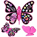 FUN LITTLE TOYS Princess Makeup Set and Nail Art, Kids Washable Makeup Kit, Makeup Palette for Girls- Fully Beauty Fashion Kit