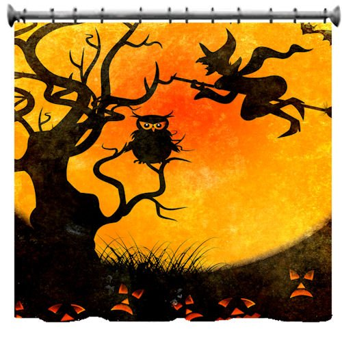 Spooky Halloween Shower Curtains