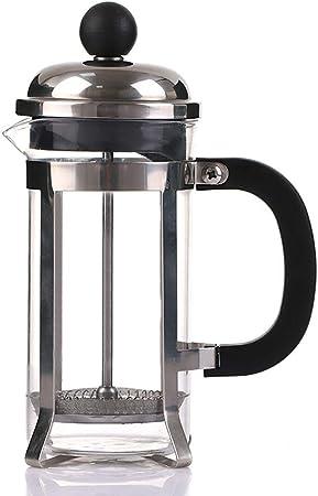 FYHKF Cafeteras de émbolo Cafetera Francesa de presión. Taza de Filtro Francesa de Acero Inoxidable. Máquina de té, Prensa de Filtro, Lavado a Mano, 350/600 / 800ml. (Tamaño : 8.5 * 17cm(350ml)): Amazon.es: Hogar